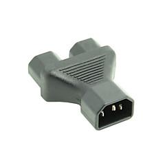 IEC320 C14 mannlige å doble c13 kvinnelige y typen splitter forlengelse strømadapter