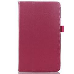お買い得  タブレット用ケース-ケース 用途 Huawei フルボディーケース タブレットケース 純色 ハード PUレザー のために
