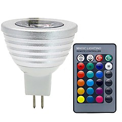 cheap LED Bulbs-3W 280 lm GU5.3(MR16) LED Spotlight MR16 1 leds COB Dimmable Decorative Remote-Controlled RGB DC 12V