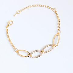 abordables Brazaletes de Tenis-Mujer Cadenas y esclavas Tenis pulseras Legierung Brillante La imitación de diamante Personalizado Oro Rosa Joyas 1 pieza