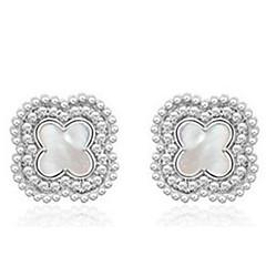 preiswerte Ohrringe-Damen Ohrstecker - Sterling Silber Clover Silber Für Party Normal