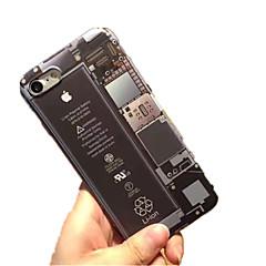 Недорогие Кейсы для iPhone 5-Кейс для Назначение IPhone 7 / iPhone 7 Plus / iPhone 6s Plus iPhone 7 / iPhone 6 / Кейс для iPhone 5 С узором Кейс на заднюю панель Мультипликация Мягкий ТПУ для iPhone SE / 5s
