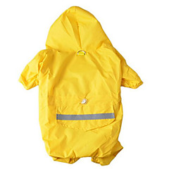 Dog Rain Coat Dog Clothes Waterproof Sports Solid Yellow Red Blue Camouflage Color Costume For Pets