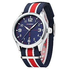 baratos Relógios em Oferta-Homens Relógio Esportivo / Relógio de Moda / Relógio Elegante Calendário / Mostrador Grande Tecido Banda Luxo / Vintage / Casual Cores Múltiplas