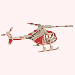 preiswerte -Holzpuzzle Flugzeug Berühmte Gebäude Chinesische Architektur Helikopter Haus Profi Level Holz Weihnachten Karneval Geburtstag Helikopter