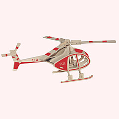 voordelige -Houten puzzels Vliegtuig Beroemd gebouw Chinese architectuur Helikopter Huis professioneel niveau Hout Kerstmis Carnaval Verjaardag
