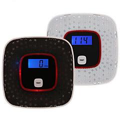 display LCD co monóxido de carbono detector aviso fumaça envenenamento por sensor de alarme de gás de gás testador humano de voz para