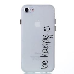 Кейс для Назначение Apple iPhone 8 iPhone 8 Plus Сияние в темноте Задняя крышка Слова / выражения Мягкий TPU для iPhone 8 Plus iPhone 8