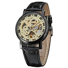 Męskie Sportowy Do sukni/garnituru Modny Zegarek na nadgarstek zegarek mechaniczny Mechaniczny, nakręcanie ręczne Kalendarz Skóra