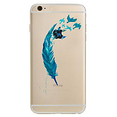 Недорогие Кейсы для iPhone 7-Кейс для Назначение Apple iPhone 6 iPhone 7 Plus iPhone 7 Ультратонкий С узором Кейс на заднюю панель  Перья Мягкий ТПУ для iPhone 7 Plus
