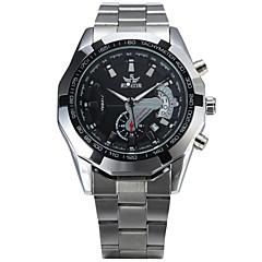 preiswerte Tolle Angebote auf Uhren-Herrn Automatikaufzug Mechanische Uhr Armbanduhr Sportuhr Armbanduhren für den Alltag Legierung Band Retro Freizeit Modisch Mehrfarbig
