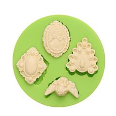お買い得  ベイキング用品&ガジェット-装飾用具 出芽 キャンディのための アイス チョコレート ピザ パイ Cupcake クッキー ケーキ Other シリコーン エコ DIY バレンタイン・デー 誕生日 高品質 3D ホリデー 焦げ付き防止