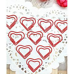 심장 패턴은 플라스틱 포장 종이 클립 (10PCS)