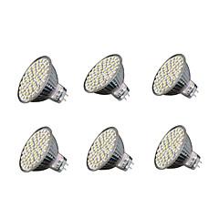 Χαμηλού Κόστους Λαμπτήρες LED-6pcs 4W 240 lm GU5.3 LED Σποτάκια MR16 60 leds SMD 3528 Θερμό Λευκό Ψυχρό Λευκό 3000-3200/6000-6500