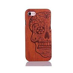 Для Защита от удара Рельефный С узором Кейс для Задняя крышка Кейс для Череп Твердый Дерево для AppleiPhone 7 Plus iPhone 7 iPhone 6s