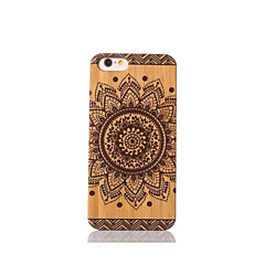For Stødsikker Etui Bagcover Etui Mandala-mønster Hårdt Bambus for Apple iPhone 6s/6