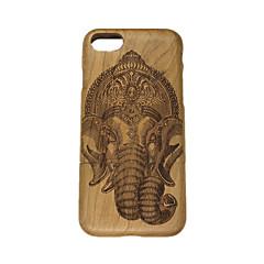 Для Рельефный Кейс для Задняя крышка Кейс для Слон Твердый Дерево для Apple iPhone 7