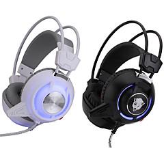3,5 мм высококачественных игр гарнитуры стерео головные наушники с светодиодной вибрацией света DJ