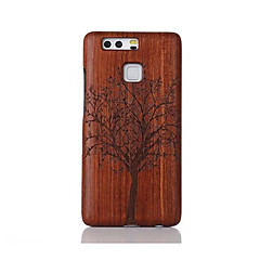 For Shockproof Embossed Pattern Case Back Cover Case Tree Hard Solid Wood for Huawei P9 Huawei P9 Lite