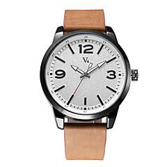 V6 Hombre Reloj de Vestir Reloj de Moda Japonés Cuarzo Resistente al Agua Piel Banda Cool Casual Minimalista Negro Marrón