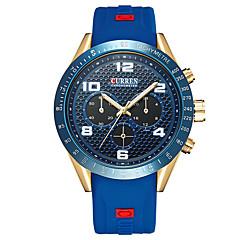 Homens Relógio Esportivo Relógio Elegante Relógio de Moda Relógio de Pulso Quartzo Calendário Couro Legitimo Banda Pendente Casual Cores