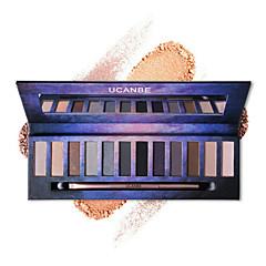 Paleta de Sombras Secos Paleta da sombra Pó NormalMaquiagem para o Dia A Dia Maquiagem para Dias das Bruxas Maquiagem de Festa Maquiagem