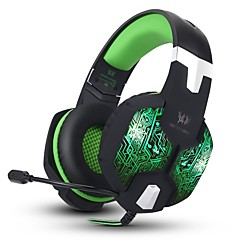 G1000 Stereo Over-ear Gaming Headset Headphones with 7 Colors Breathing LED Light With Microphone For Mac PC Computer(Green)