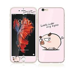 billige Skærmbeskyttere Til iPhone 6s / 6 Plus-til Apple iPhone 6s plus / 6 plus 5,5 hærdet glas med blød kant foran skærmen fuld skærm dækning beskytter og rygbeskytter gris tegneserie