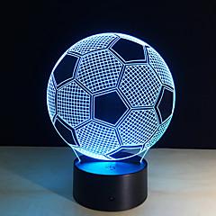 billige Originale LED-lys-1 stk 3D nattlys Fjernkontroll Nattsyn Liten størrelse Fargeskiftende Kunstnerisk LED Moderne / Nutidig