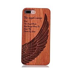 Для Защита от удара С узором Рельефный Кейс для Задняя крышка Кейс для Перо Твердый Дерево для AppleiPhone 7 Plus iPhone 7 iPhone 6s