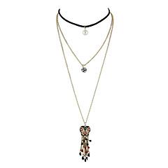 Damskie Naszyjniki choker Emalia Stop Klasyczny Gold Biżuteria Na Casual 1szt