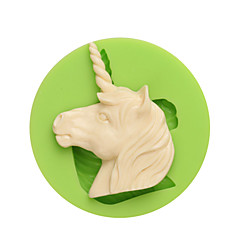 tanie Przybory i gadżety do pieczenia-Zachodnie mity i legendy jednorożec kształt formy silikonowe do czekolady kandyzowanej i koloru ciasteczek przypadkowych