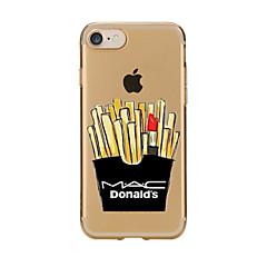Capinha Para Apple iPhone X iPhone 8 iPhone 7 iPhone 6 Capinha iPhone 5 Transparente Estampada Capa Traseira Comida Macia TPU para iPhone