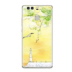 olcso Huawei tokok-Mert Minta Case Hátlap Case Látvány Puha TPU mert Huawei Huawei P9 Huawei P9 Lite Huawei P9 Plus Huawei P8 Huawei P8 Lite