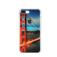 Недорогие Кейсы для iPhone 7-Кейс для Назначение Apple iPhone 6 iPhone 7 Plus iPhone 7 С узором Кейс на заднюю панель Вид на город Мягкий ТПУ для iPhone 7 Plus iPhone
