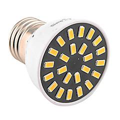 preiswerte LED-Birnen-1pc 4W 400-500lm E26 / E27 LED Spot Lampen MR16 24 LED-Perlen SMD 5733 Dekorativ Warmes Weiß Kühles Weiß 110-130V 220-240V