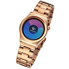 זול מבצעי שעונים-בגדי ריקוד נשים שעוני אופנה קווארץ / סגסוגת להקה יום יומי שחור כסף זהב זהב ורד