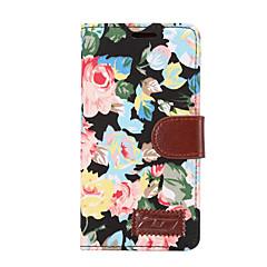 Недорогие Чехлы и кейсы для Sony-Кейс для Назначение Sony Z5 Sony Xperia Z3 Sony Xperia Z2 Sony Бумажник для карт Кошелек со стендом Флип Чехол Цветы Твердый Кожа PU для