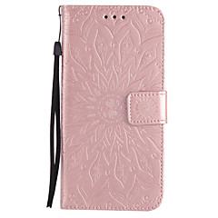 Недорогие Чехлы и кейсы для Galaxy Note 5-Для Кошелек Бумажник для карт со стендом Флип С узором Рельефный Кейс для Чехол Кейс для Мандала Твердый Искусственная кожа для Samsung