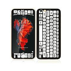 για Apple iPhone 6s / 6 4.7 γυαλί με προστατευτικό μαλακό άκρο πλήρη κάλυψη της οθόνης μπροστά την οθόνη και το πληκτρολόγιο μοτίβο