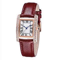Relógio Elegante Relógio de Moda suíço Designer Quartzo Couro Legitimo Banda Pendente Preta Branco Vermelho Marrom