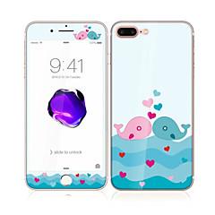 olcso iPhone 7 Plus képernyővédő fóliák-Apple iPhone 7 plus 5.5 edzett üveg puha él teljes képernyős lefedettség első és hátsó képernyő védő bálna szerelmeseinek minta