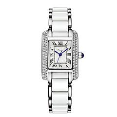 preiswerte Tolle Angebote auf Uhren-Damen Armbanduhr Quartz 30 m Schlussverkauf Legierung Band Analog Luxus Modisch Elegant Blau / Silber - Weiß Blau Rotgold
