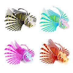 hesapli -Akvaryum Dekorasyonu Yapay Balık Gece Parlayan Silikon