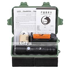 U'King LED zseblámpák Elemlámpa készlet LED 2000 Lumen 3 Mód Cree XM-L T6 18650 AAA 26650 Állítható fókusz Újratölthető