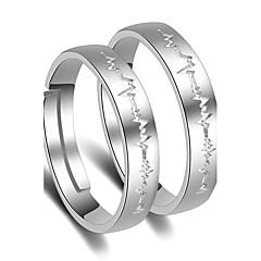 preiswerte Ringe-Damen Eheringe - Platiert Prinzessin Klassisch Verstellbar Silber Für Hochzeit Party Besondere Anlässe