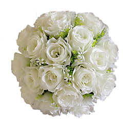 abordables Decoración de Oficina-Flores Artificiales 1 Rama Ramos de Flores para Boda Rosas Flor de Mesa