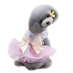 お買い得  犬用ウェア&アクセサリー-犬 タキシード ドレス 犬用ウェア プリンセス グリーン ピンク ライトブルー シフォン コスチューム ペット用 女性用 ファッション 結婚式