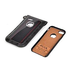Для Кольца-держатели Кейс для Задняя крышка Кейс для Один цвет Твердый Искусственная кожа для Apple iPhone 7 Plus iPhone 7