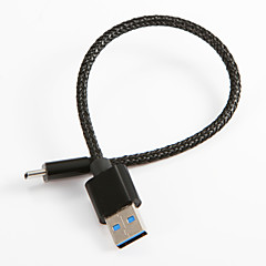 USB 2.0 Type C Braided Cable For Samsung Huawei Sony Nokia HTC Motorola LG Lenovo Xiaomi 20 cm Nylon
